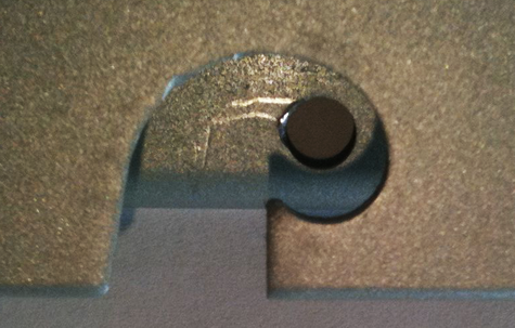 Hole within hole punch mirror image punching press and custom die